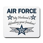 Husband Defending Freedom AF Mousepad