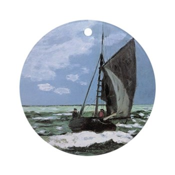 Storm by Monet Round Ornament