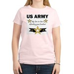 Son-in-law defending freedom Women's Pink T-Shirt