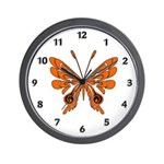 Butterfly Tattoo Wall Clock