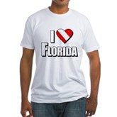 Scuba: I Love Florida Fitted T-Shirt