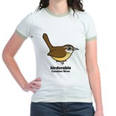 Birdorable Carolina Wren Jr. Ringer T-Shirt