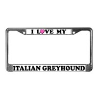 Italian Greyhound License Plate Frames