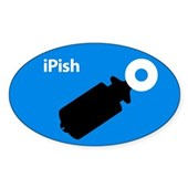  iPish (blue) Oval Sticker