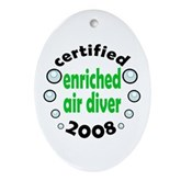Enriched Air Diver 2008 Oval Ornament