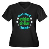 Enriched Air Diver 2008 Women's Plus Size V-Neck D