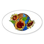 Sunflower Planet Sticker (Oval)