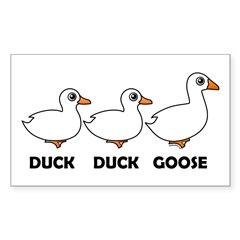 Duck Duck Goose Domestic Sticker (Rectangle)