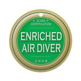 Certified Nitrox Diver 2008 Ornament (Round)