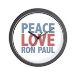 Peace Love Ron Paul Wall Clock