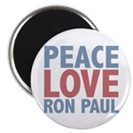 Peace Love Ron Paul 2.25&quot; Magnet (10 pack)