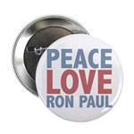 Peace Love Ron Paul 2.25&quot; Button (100 pack)