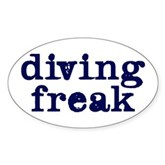 Diving Freak Oval Sticker