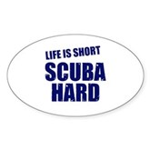 Scuba Hard Oval Sticker