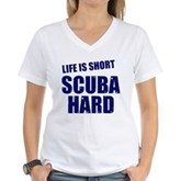 Scuba Hard Women's V-Neck T-Shirt