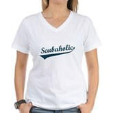  Scubaholic Women's V-Neck T-Shirt