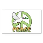 Birdorable Peace Dove Sticker (Rectangle)