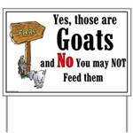 Goats Yard Sign