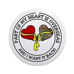Half of my heart is overseas Ornament (Round)