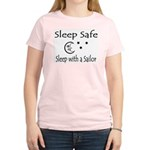 Sleep Safe - Sailor Women's Pink T-Shirt