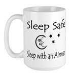 Sleep Safe Sleep with an Airman Large Mug