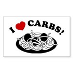 I Love Carbs! Rectangle Sticker