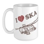I Love Ska Large Mug