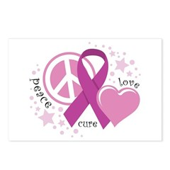 CF Peace Love Cure Postcards (Package of 8)
