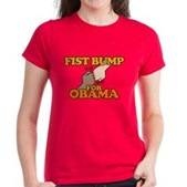Fist Bump for Obama Women's Dark T-Shirt