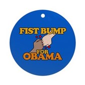 Fist Bump for Obama Ornament (Round)