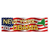 New York for Obama Bumper Sticker