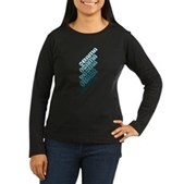 Stacked Obama Blue Women's Long Sleeve Dark T-Shir