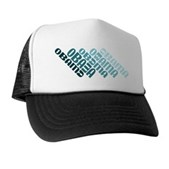 Stacked Obama Blue Trucker Hat