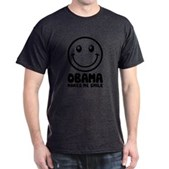 Obama Makes Me Smile Dark T-Shirt