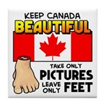 Canada Severed Foot Tile Coaster