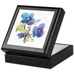 Watercolor Flowers Keepsake Box