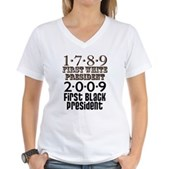 Presidential Firsts Women's V-Neck T-Shirt