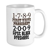 Presidential Firsts: 1789-2009 Large Mug