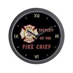 Fire Chief Wall Clock