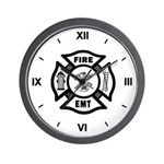 Firefighter EMT Maltese Wall Clock