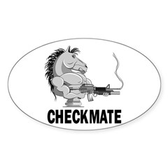 Checkmate Sticker (Oval)