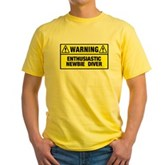 Warning: Newbie Diver Yellow T-Shirt