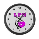 LPN Care Large Wall Clock