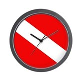 Scuba Flag (plain) Wall Clock