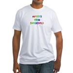 Autists Think Differently Fitted T-Shirt