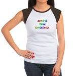 Autists Think Differently Women's Cap Sleeve T-Shi
