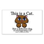 This is a Cat Sticker (Rectangle)