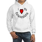 I Heart My Perseverations Hooded Sweatshirt