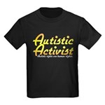 Autistic Activist v2 Kids Dark T-Shirt