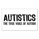 True Voice of Autism Sticker (Rectangular)
